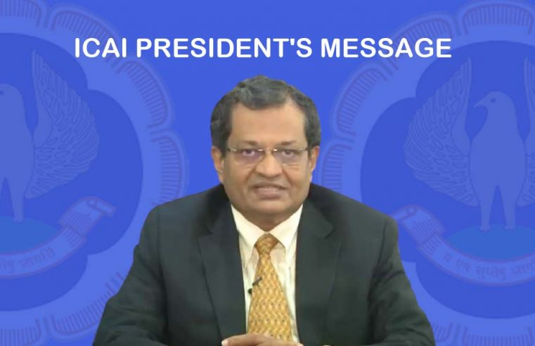 ICAI President's Message – March 2021